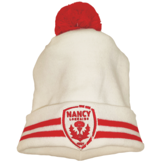 Bonnet blanc et rouge AS Nancy Lorraine