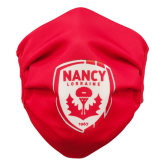 Masque rouge logo AS Nancy Lorraine