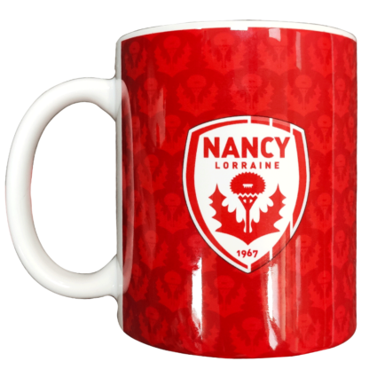 Tasse rouge logo AS Nancy Lorraine