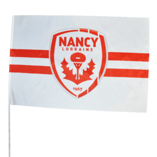 drapeau blanc double bande rouge nancy asnl 1967