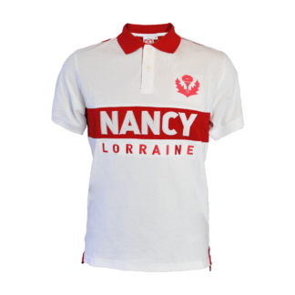 polo rouge blanc asnl nancy face