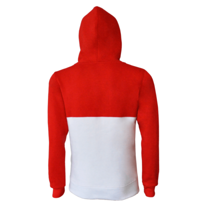 sweat capuche rouge blanc nancy